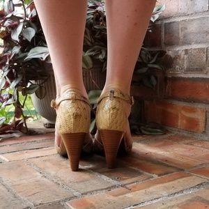 Tahari Shoes - Tahari Giselle Snakeskin Sandals/Heels